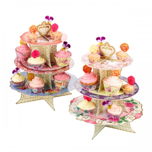 stand para pasteles floral